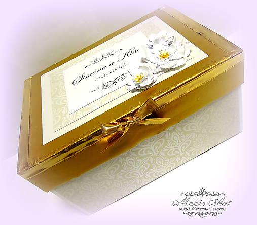 Krabica na svad. pohľadncie