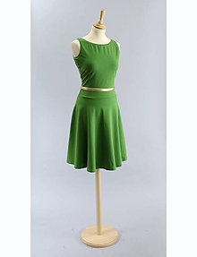Šaty - Šaty s pol kruhovou sukňou ...zelené - 5445136_