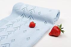 Textil - Detská deka pre chlapčeka, OEKO-TEX®, Bledomodrá - 5444354_