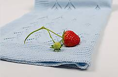 Textil - Detská deka pre chlapčeka, OEKO-TEX®, Bledomodrá - 5444356_