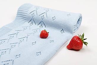 Textil - Detská deka, Classic royal,OEKO-TEX®, Bledomodrá - 5444354_