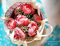 Pierka - svadobné pierko pivonka s bobuľkami - 5445738_