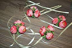 Pierka - svadobné pierko pivonka s bobuľkami - 5445744_