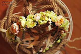 Ozdoby do vlasov - venček lesnej víly - 5445826_