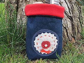 Dekorácie - Textilný košík na drobnosti - 5445710_
