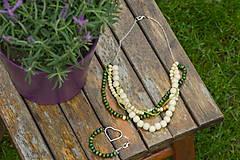 Náhrdelníky - Zelená sada šperkov - 5446158_