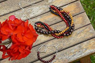 Sady šperkov - Červená sada šperkov - 5446188_