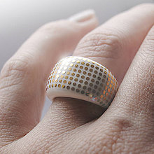 Prstene - Prsteň zlaté bodky / RING RING - gold - 5443309_