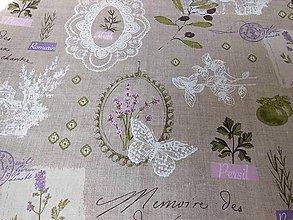 Textil - 100%-ný ľan - provence a levanduľa - 5445065_