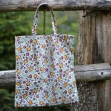 Nákupné tašky - Nákupná taška - pastelové kvietky - 5445588_