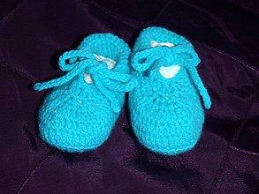 Topánočky - Háčkované papučky pre miminko - 5446902_