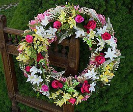 Dekorácie - Letný veniec na dvere - 5448484  d1fa4b0ce26