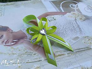 Pierka - svadobné pierka zelené/veľké/ - 5449047_