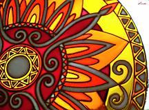Dekorácie - Mandala Vnútornej Sily - 5448693_