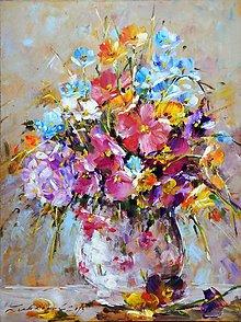 Obrazy - Farbičková radosť v kvetoch - 5447417_