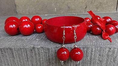 Sady šperkov - Čerešňová sada 4v1 - 5449540_