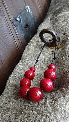Náhrdelníky - Bordó brusnicové molekuly - 5449569_