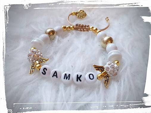 S menom dieťaťa  )   SasaFairyWorld - SAShE.sk - Handmade Náramky 5b65b28f769
