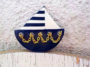 Odznaky/Brošne - elegant Navy-brosna - 5449485_