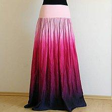 Sukne - Variace na maliny...dlouhá hedvábná sukně s dlouhou spodničkou - 5447287_