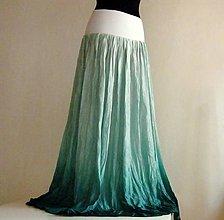 Sukne - V moři urousaná...dlouhá hedvábná sukně s dlouhou spodn.) - 5447328_