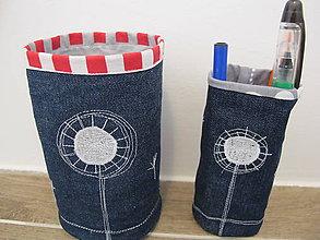 Dekorácie - Textilné košíky-malé púpavky - 5451712_