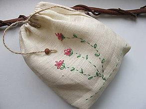 Úžitkový textil - Vrecko na bylinky-materina dúška - 5452409_