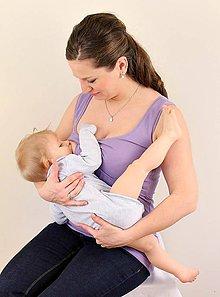 Tehotenské oblečenie - 3v1 tielko pre tehotné, dojčiace, nedojčiace - 76 faireb - 5450781_