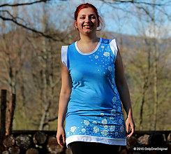 Šaty - Šaty bez rukávov šité farbené a maľované PÁPERIENKY - 5450289_