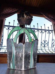 Dekorácie - len taká vitrážna váza - 5452037_