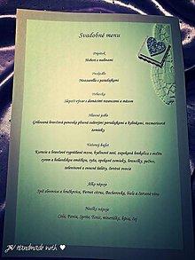 Papiernictvo - Svadobné menu (farebný text) - 5451676_