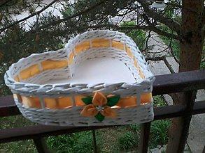 Košíky - Svadba žltý kvietok - 5451946_