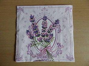 Papier - kytička z levandule - 5451369_