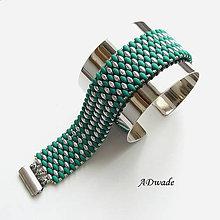 Náramky - Korálkový náramok Esmeralda - 5455550_