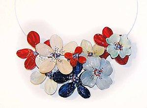 Náhrdelníky - Slovenský kvetinový náhrdelník 2 - 5455322_