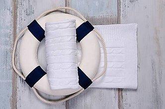 """Textil - Biela deka """"vrkoč"""" pre bábätko OEKO-TEX® - vzor vrkoč - 5453995_"""