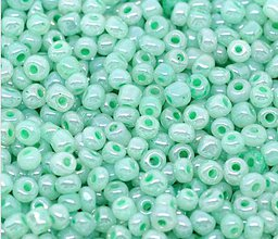 Korálky - Sklenené korálky 4 mm - 10 gramov - 5455324_