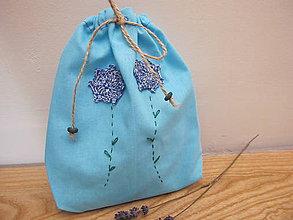 Úžitkový textil - Vrecko na bylinky- čakanka - 5454712_
