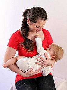 Tehotenské oblečenie - 3v1 tričko pre tehotné, dojčiace, nedojčiace - kr. rukav - 76 faireb - 5454853_
