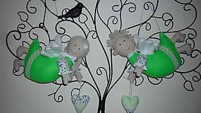 Dekorácie - závené anjeliky - 5453357_
