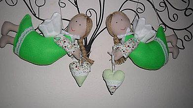 Dekorácie - závesné anjeliky dievčatá - 5453385_