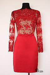 Šaty - Púzdrové šaty z korálkovej krajky rôzne farby  a vzory - 5453392_