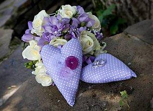 Dekorácie - Srdiečka svadobné, 15 cm - 5455699_