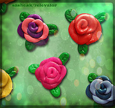 Materiál ručne robený - Ružičky NA ZÁKAZKU (aplikácie) - 5455956_