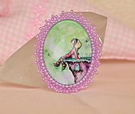 Odznaky/Brošne - Detská brošňa s dievčatkom  - 5454206_