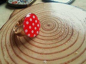 Prstene - Prstienok red polka dotts - 5456731_