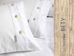 Úžitkový textil - Obliečka štvorec maxi BETY wafle - 5456674_