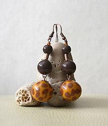 Náušnice - Žirafa - guľky - 5459542_