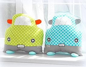 Textil - Vankúš Auto s menom 35x35cm - 5461697_