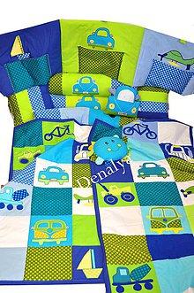 Detské súpravy - Prehoz z kolekcie Modrý Transport 120x205cm - 5462264_